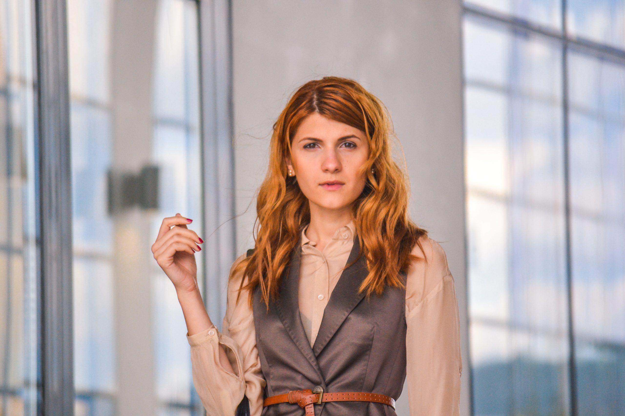 beautiful, business, woman