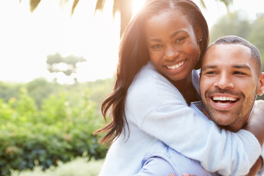 couple, african, happy