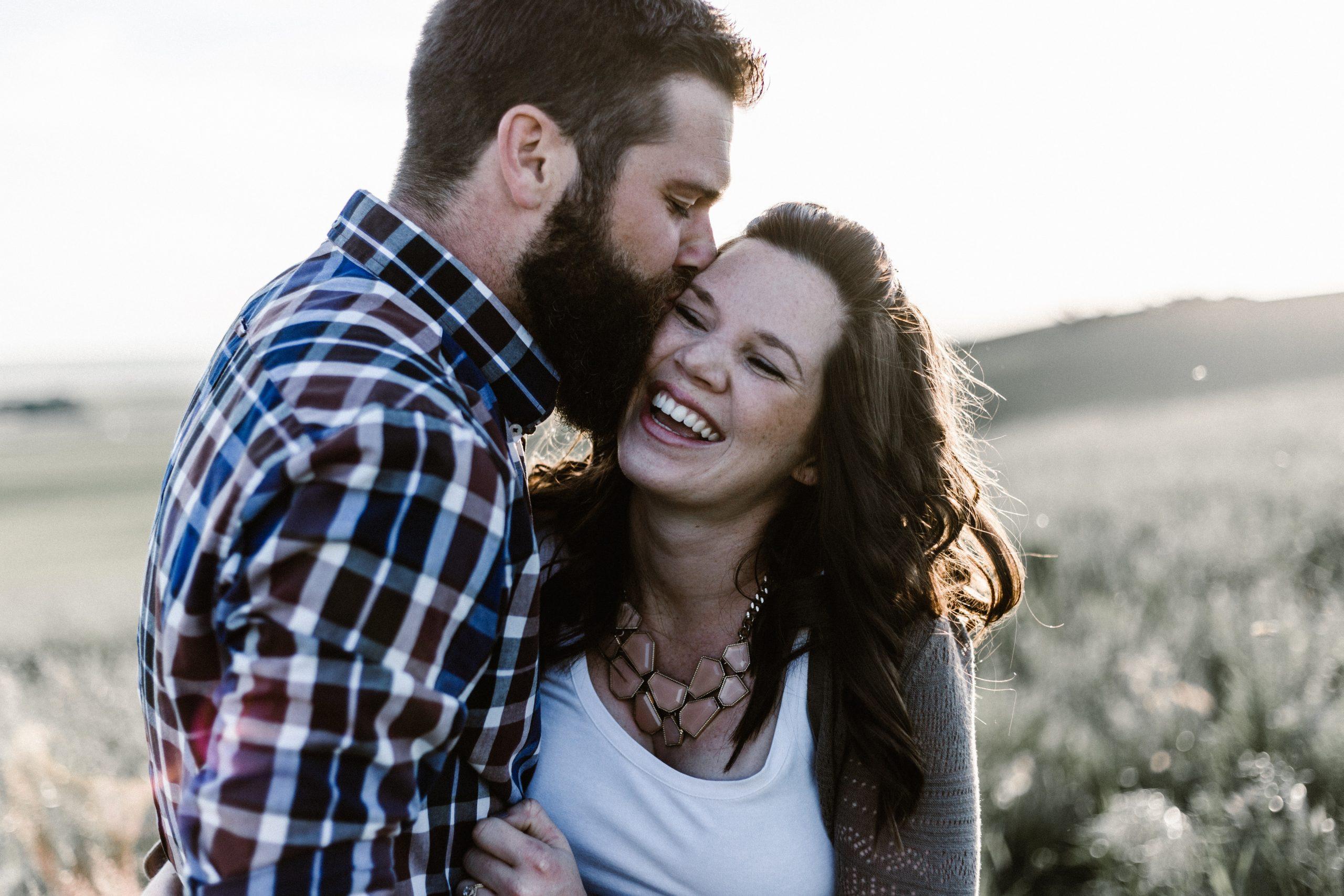 Happy Couple Kissing