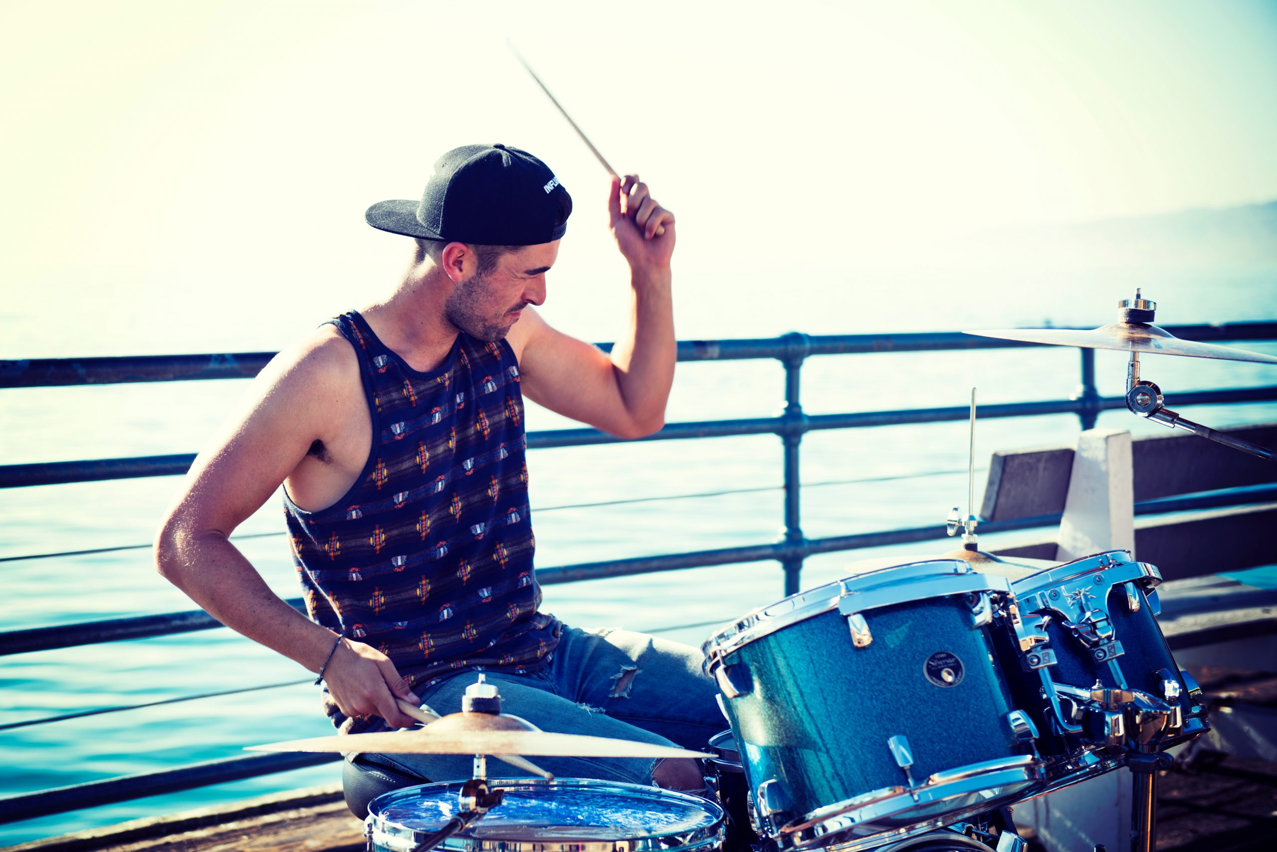 Was in Santa Monica, California, and at the end of the pier, heard some great drumming from Oliver Bohler. He's got skills! Check him out at:  https://www.facebook.com/oliverbohlermusic/