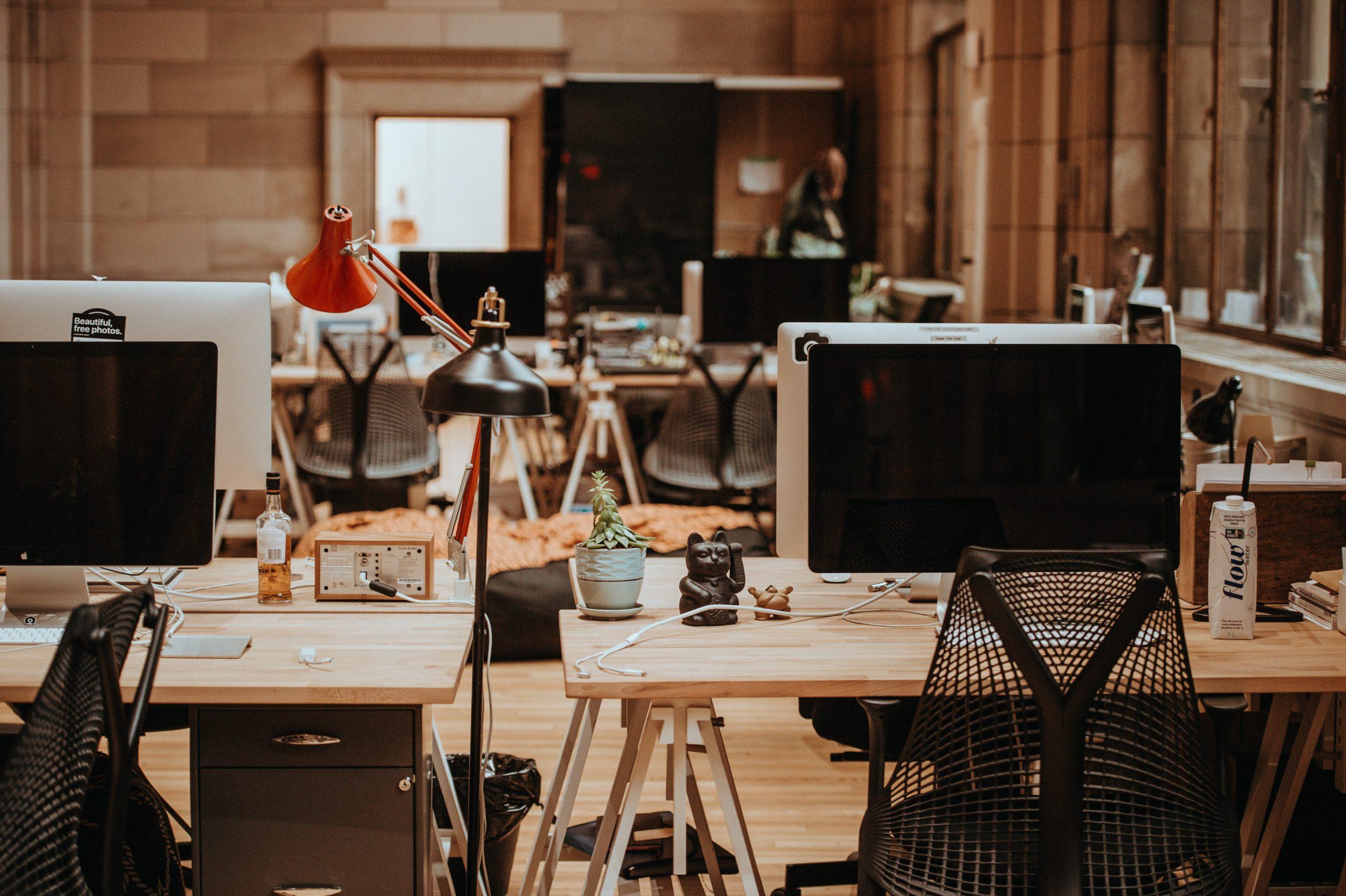 Desktop setup at Unsplash HQ